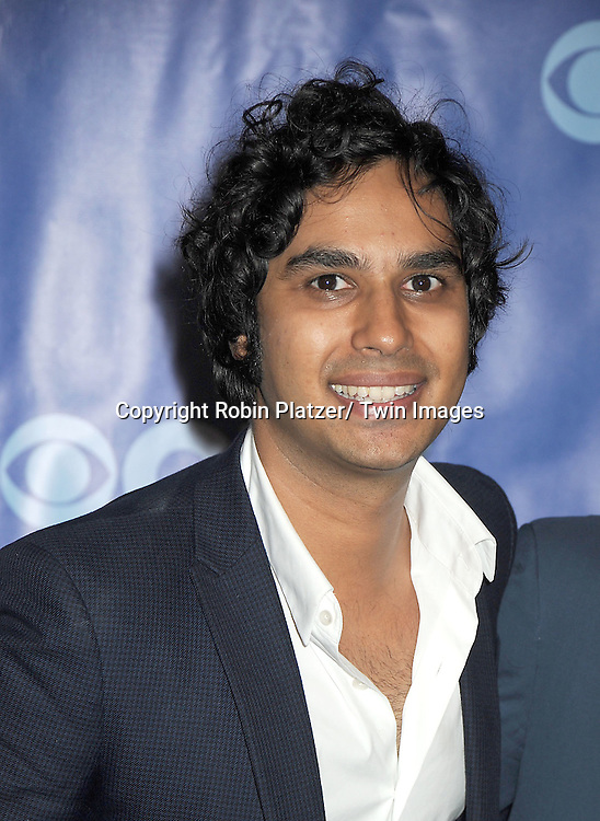 Kunal Nayyar attending The CBS Upfront announcement of the Prime Time 2011-2012 Season on May 18, 2011 at Damrosch Park in  Lincoln Center in New York City.