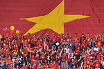 Fans of Vietnam cheers prior to the AFC Asian Cup UAE 2019 Quarter Finals match between Vietnam (VIE) and Japan (JPN) at Al Maktoum Stadium on 24 January 2018 in Dubai, United Arab Emirates. Photo by Marcio Rodrigo Machado / Power Sport Images