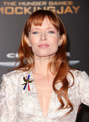 "Los Angeles, CA - November 16 Stef Dawson Attending Premiere Of Lionsgate's ""The Hunger Games: Mockingjay - Part 2"" At Microsoft Theater On November 16, 2015. Photo Credit: Faye Sadou / MediaPunch"