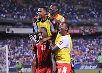 Panama Luis Tejada celebrates his score with team mates that gave Panama the victory.   Team Photo.  Panama defeated El Salvador in penalty kicks 5-3 in the quaterfinals for the 2011 CONCACAF Gold Cup , at RFK Stadium, Sunday June 19, 2011.