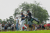 Justin Thomas (USA) and Phil Mickelson (USA) head down 15 during 2nd round of the World Golf Championships - Bridgestone Invitational, at the Firestone Country Club, Akron, Ohio. 8/3/2018.<br /> Picture: Golffile | Ken Murray<br /> <br /> <br /> All photo usage must carry mandatory copyright credit (&copy; Golffile | Ken Murray)