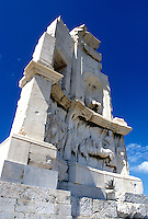 Athens, Greece, Europe, Monument of Philopappus on Filopappos Hill in Athens.