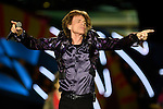 Nicolas Celaya/ URUGUAY/ MONTEVIDEO/ ESTADIO CENTENARIO<br /> En la foto, Mick Jagger durante el concierto de la banda inglesa The Rolling Stones por primera vez en el Estadio Centenario. Nicol&aacute;s Celaya /adhocFotos<br /> 2016 - 16 de febrero - martes