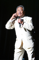 Armando Manzanero and Francisco Cespedes perform at their 'Armando Un Pancho' Concert at The Miami Dade Auditorium in Miami, Florida. February 11, 2012. © Majo Grossi/MediaPunch Inc.