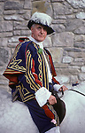 Castleton Garland day, Castleton Derbyshire UK May 29th,. Oak Apple Day. The King.