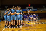 GRAND RAPIDS, MI - MARCH 18: Tufts University huddle up during the Division III Women's Basketball Championship held at Van Noord Arena on March 18, 2017 in Grand Rapids, Michigan. Amherst College defeated Tufts University 52-29 for the national title. (Photo by Brady Kenniston/NCAA Photos via Getty Images)