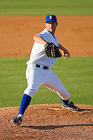 Jon Keck #65 of the Burlington Royals in action against the Kernersville Bulldogs in an exhibition game at Burlington Athletic Stadium June20, 2010, in Burlington, North Carolina.  Photo by Brian Westerholt / Four Seam Images