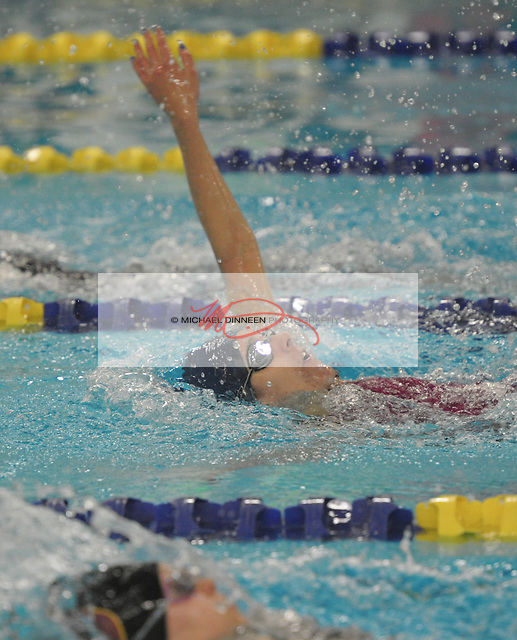 Eagle River's Jordyn Bruce competes in the finals of the 200-meter IM at the Region IV Swim Championships finals. Photo for the Star by Michael Dinneen
