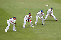 The Essex slips look on during Warwickshire CCC vs Essex CCC, Specsavers County Championship Division 1 Cricket at Edgbaston Stadium on 11th September 2019