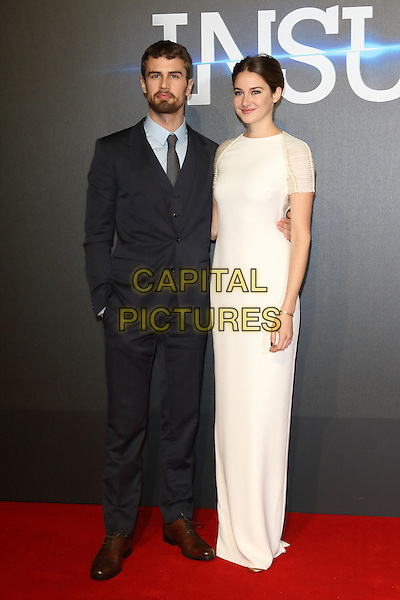 LONDON, ENGLAND - MARCH 11: Theo James and Shailene Woodley attends the World Premiere of 'Insurgent' at Odeon Leicester Square on March 11, 2015 in London, England<br /> CAP/ROS<br /> &copy;Steve Ross/Capital Pictures
