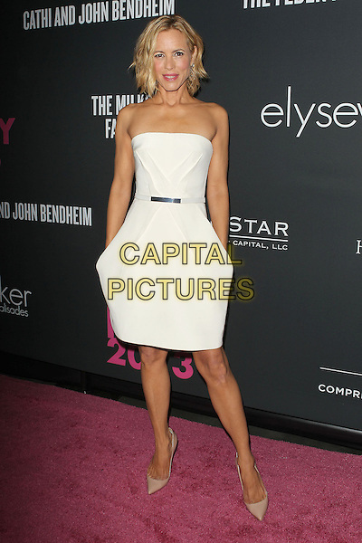 Maria Bello<br /> The Pink Party 2013 held at the Santa Monica Airport, Santa Monica, California, USA.<br /> October 19th, 2013<br /> full length dress white strapless <br /> CAP/ADM/KB<br /> &copy;Kevan Brooks/AdMedia/Capital Pictures