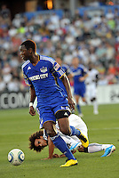 Birahim Diop. Kevin Alston on ground...Kansas City Wizards defeated New England Revolution 4-1 at Community America Ballpark, Kansas City, Kansas.