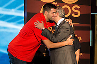 Felipe Reyes during the 80th Aniversary of the National Basketball Team at Melia Castilla Hotel, Spain, September 01, 2015. <br /> (ALTERPHOTOS/BorjaB.Hojas) / NortePhoto.Com