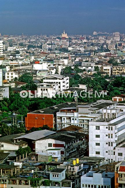 Cidade de Bangcoc. Tailândia. 1985. Foto de João Caldas.
