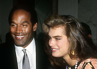 OJ Simpson Brooke Shields 1985<br /> Photo By John Barrett/PHOTOlink.