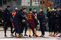 Calcio, Serie A: Roma vs ChievoVerona. Roma, stadio Olimpico, 22 settembre 2016.<br /> Roma&rsquo;s Stephan El Shaarawy celebrates after scoring on a free kick during the Italian Serie A football match between Roma and Chievo Verona, at Rome's Olympic stadium, 22 December 2016.<br /> UPDATE IMAGES PRESS/Isabella Bonotto