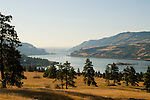 View of Oregon and Washington along the Columbia River Gorge