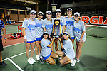 ATHENS, GA - MAY 23: The University of Florida team celebrates with the trophy during the Division I Women's Tennis Championship held at the Dan Magill Tennis Complex on the University of Georgia campus on May 23, 2017 in Athens, Georgia. (Photo by Steve Nowland/NCAA Photos via Getty Images)
