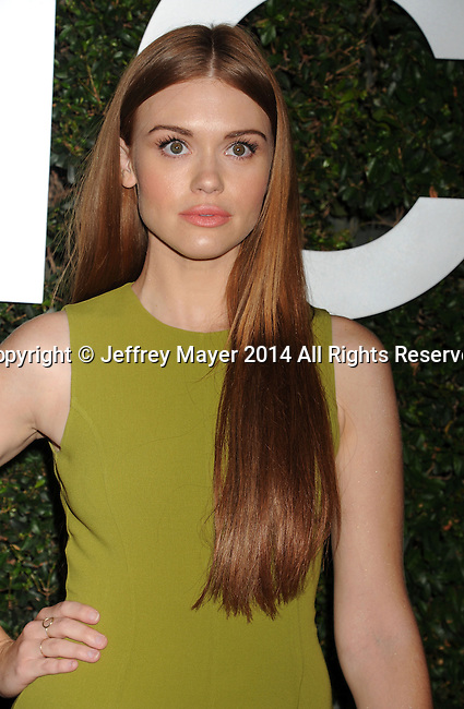 BEVERLY HILLS, CA- OCTOBER 02: Actress Holland Roden arrives at the Michael Kors Hosts Launch Of Claiborne Swanson Frank's 'Young Hollywood' Portrait Book at a private residence on October 2, 2014 in Beverly Hills, California.