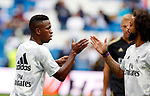 Real Madrid CF's Marcelo Vieira and Real Madrid CF's Vinicius Jr during La Liga match. Aug 24, 2019. (ALTERPHOTOS/Manu R.B.)