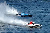 "Ken Brodie II, GP-50 ""Intensity""  and Brandon Kennedy, GP-25 ""Miss KOMA Unwind"" (Grand Prix Hydroplane(s)"