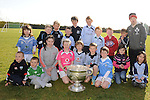 Children pictured with the Sam Maguire cup at Newtown Blues GAA club. Photo: Colin Bell/pressphotos.ie