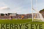 Kenmare in action against  Rathmore in the Senior County Football Semi Final in Fitzgerald Stadium on Sunday.
