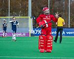 AMSTELVEEN - keeper Philip van Leeuwen (Adam) tijdens de competitie hoofdklasse hockeywedstrijd heren, Pinoke-Amsterdam (1-1)   COPYRIGHT KOEN SUYK