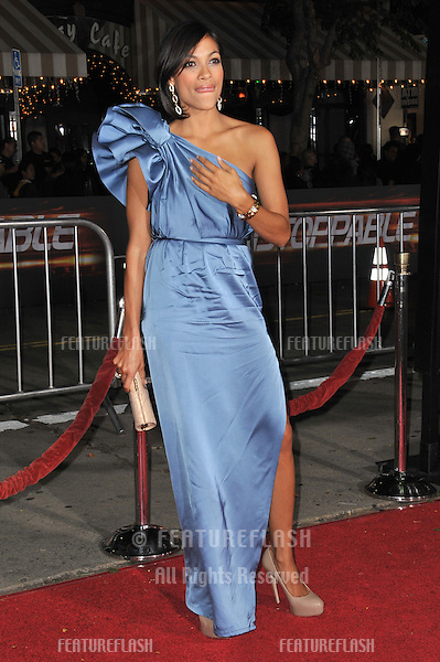 "Rosario Dawson at the world premiere of her new movie ""Unstoppable"" at the Regency Village Theatre, Westwood..October 26, 2010  Los Angeles, CA.Picture: Paul Smith / Featureflash"