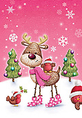Sharon, CHRISTMAS ANIMALS, WEIHNACHTEN TIERE, NAVIDAD ANIMALES, GBSS, paintings+++++,GBSSC50XJ6,#XA# ,raindeer