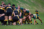 D. Faitala, M. Price, T. Short & P. Ivamy prepare to pack down in a scrum for Pukekohe. Counties Manukau Premier club rugby game between Bombay & Pukekohe played at Bombay on the 19th of May 2007. Pukekohe led 24 - 0 at halftime & went on to win 30 - 22.