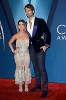 NASHVILLE, TN - NOVEMBER 8:  Maren Morris and Ryan Hurd arrive at the 51st Annual CMA Awards at the Bridgestone Arena on November 8, 2017 in Nashville, Tennessee. (Photo by Tonya Wise/PictureGroup)