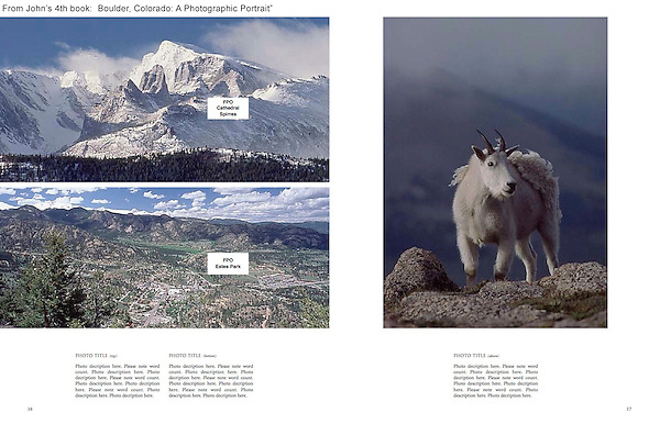 """Private guided tours of Rocky Mountain National Park & Mt Evans.<br /> From: """"Boulder, Colorado: A Photographic Portrait"""" by John Kieffer."""