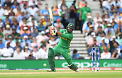 June 18th 2017, The Kia Oval, London, England;  ICC Champions Trophy Cricket Final; India versus Pakistan; Imad Wasim of Pakistan hits the ball for 4 through the off-side field
