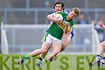 Donnchadh Walsh breaks away from Waterford's Tommy Prendergast last Saturday in Fitzgerald Stadium for the Munster GAA football championship