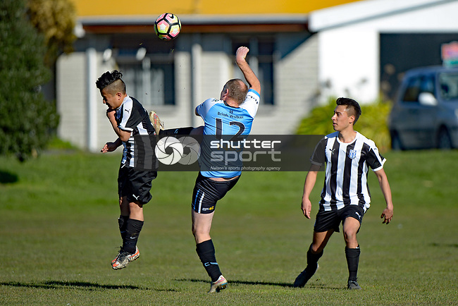 NELSON, NEW ZEALAND - JULY 15: Sprig & Fern Tahuna 2nd v FC Nelson Reserves, Tahunanui, July 15, 2017, Nelson, New Zealand. (Photo by: Barry Whitnall Shuttersport Limited)