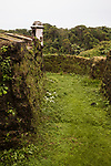 Ruins of Fort San Lorenzo, built by the Spanish at the mouth of the Chagres River on the Caribbean Coast to defend against pirates.  A UNESCO World Heritage Site.