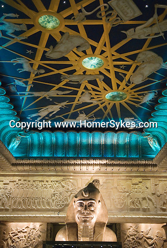 Harrods Department store. Statue of Mr Al Fayed chairman of Harrods shown as a Pharaoh London Uk 2009.