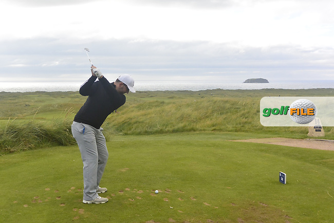Callum Farr (ENG) on the 14th tee during Round 1 Singles of The Boys Home Internationals at Ballyliffin Golf Club, Ballyliffin Co. Donegal on Tuesday 2nd August 2016.<br /> Picture:  Golffile | Thos Caffrey<br /> <br /> All photos usage must carry mandatory copyright credit   (&copy; Golffile | Thos Caffrey)