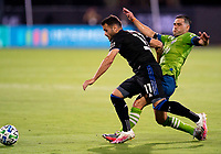 10th July 2020, Orlando, Florida, USA;  San Jose Earthquakes goalkeeper Daniel Vega (17) During the MLS Is Back Tournament between the Seattle Sounders v San Jose Earthquakes on July 10, 2020 at the ESPN Wide World of Sports, Lake Buena Vista FL.