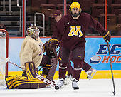 Hudson Fasching (MN - 24) - The University of Minnesota Golden Gophers practiced on Wednesday, April 9, 2014, at the Wells Fargo Center during the 2014 Frozen Four in Philadelphia, Pennsylvania.