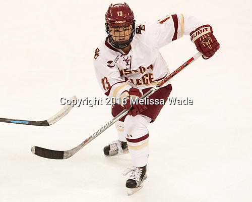 Haley McLean (BC - 13) - The Boston College Eagles defeated the visiting University of Maine Black Bears 2-1 on Saturday, October 8, 2016, at Kelley Rink in Conte Forum in Chestnut Hill, Massachusetts.  The University of North Dakota Fighting Hawks celebrate their 2016 D1 national championship win on Saturday, April 9, 2016, at Amalie Arena in Tampa, Florida.