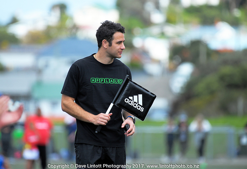 Touch judge Ben O'Keefe. Day one of the 2017 Air NZ Rippa Rugby Championship at Wakefield Park in Wellington, New Zealand on Monday, 18 September 2017. Photo: Dave Lintott / lintottphoto.co.nz