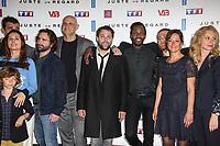 VIRGINIE LEDOYEN, LUDOVIC COLBEAU JUSTIN, HARLAN COBEN, ARTHUR JUGNOT, SYDNEY GALLONDE, MICHAEL ABITEBOULE, ANNE GIROUARD, CAROLE RICHERT - PHOTOCALL 'JUSTE UN REGARD' AU CINEMA GAUMONT MARIGNAN A PARIS, FRANCE, LE 11/05/2017.