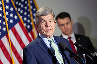 United States Senator Roy Blunt (Republican of Missouri) speaks to members of the media following GOP policy luncheons on Capitol Hill in Washington D.C., U.S., on Tuesday, June 9, 2020.  Credit: Stefani Reynolds / CNP/AdMedia