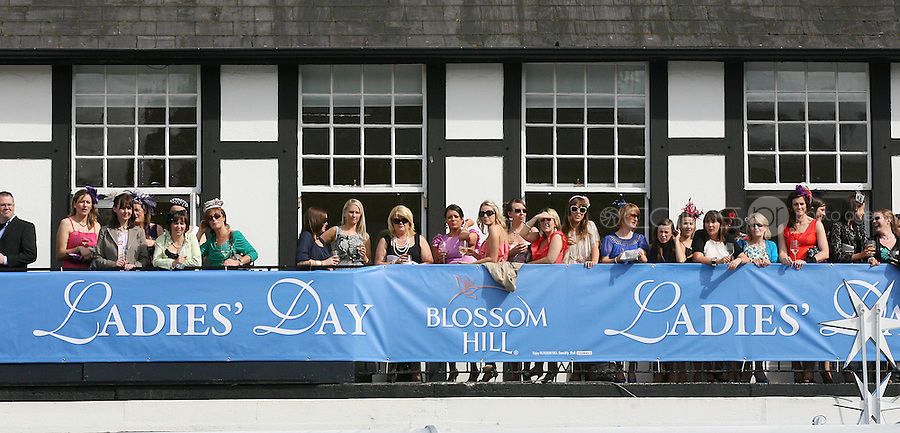 5/8/2010.Blossom Hill Ladies Day. Crowd at the Blossom Hill Ladies Day at the Fáilte Ireland Dublin Horse Show at RDS. Picture James Horan/Collins Photos