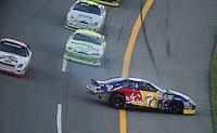 Oct 3, 2008; Talladega, AL, USA; ARCA RE/MAX Series driver Scott Speed crashes during the Remax 250 at Talladega Superspeedway. Mandatory Credit: Mark J. Rebilas-