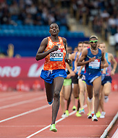 Andrew Kiptoo ROTICH of Kenya set the pace during the first lap during the Muller Grand Prix Birmingham Athletics at Alexandra Stadium, Birmingham, England on 20 August 2017. Photo by Andy Rowland.