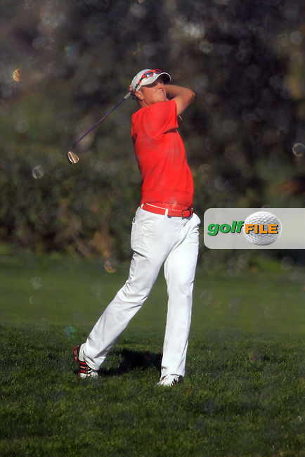 Fredrik Andersson Hed (SWE) on the 2nd on Day 3 of the 2012 Open de Andalucia Costa del Sol at Aloha Golf Club, Marbella, Spain....(Photo Jenny Matthews/www.golffile.ie)