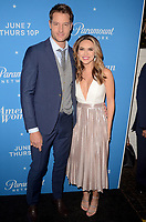 LOS ANGELES, CA - MAY 31: Justin Hartley and Chrishell Stause at the Premiere Of Paramount Network's 'American Woman' - Arrivals at Chateau Marmont on May 31, 2018 in Los Angeles, California. <br /> CAP/MPI/DE<br /> &copy;DE//MPI/Capital Pictures
